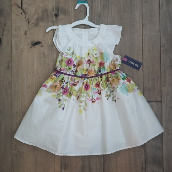 Cherokee Other - Girls 4T Floral Dress NEW with Tags